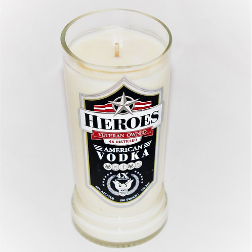Heroes Vodka Bottle Candle