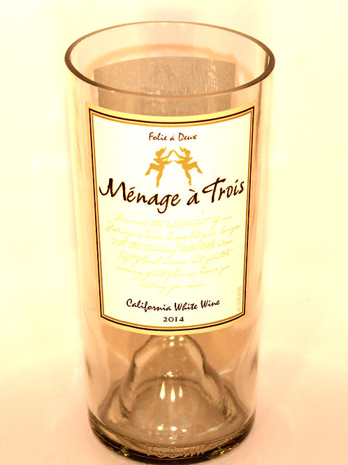 White Wine Bottle Candle
