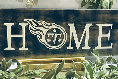 Tennessee Titans Home Sign