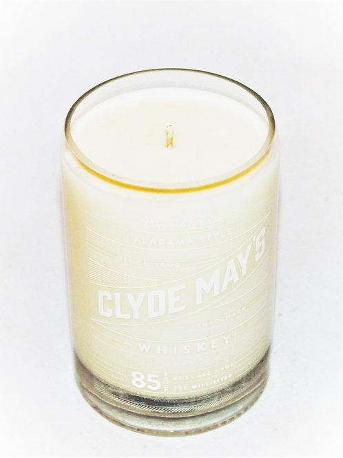 Clyde Mays Liquor Bottle Candle