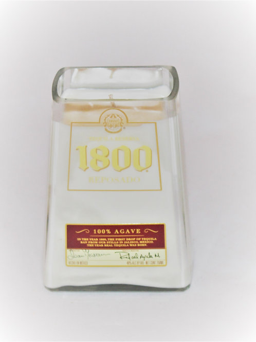 1800 Tequila Bottle Candle