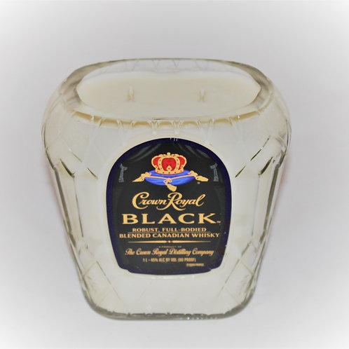 Crown Black Liquor Bottle Candle