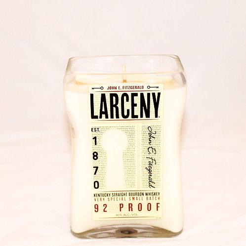 Larceny Liquor Bottle Candle