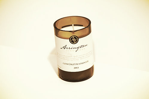 White Wine Bottle Candle