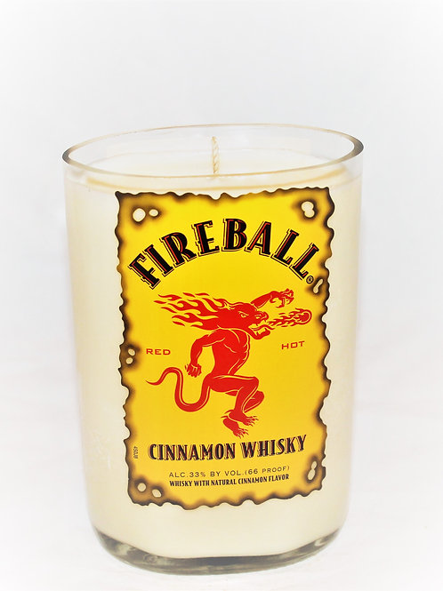 Fireball Liquor Bottle Candle