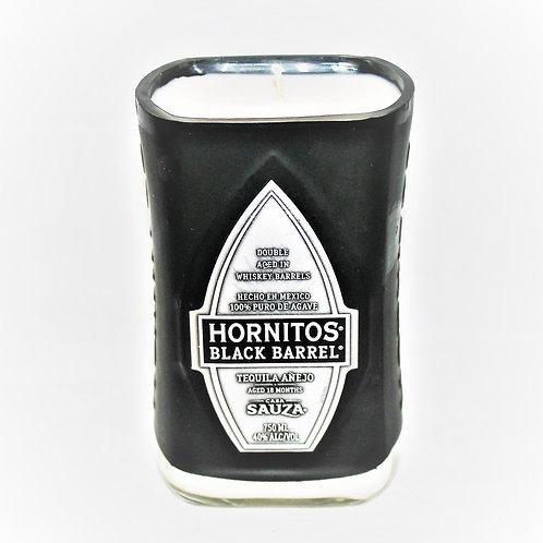 Hornitos Black Barrel Rum Liquor Bottle Candle