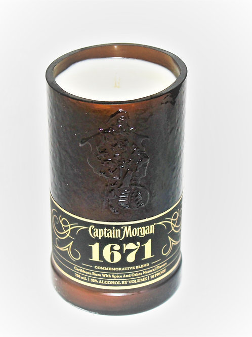 "Captain Morgan ""1671"" Special additionRum Liquor Bottle Candle"