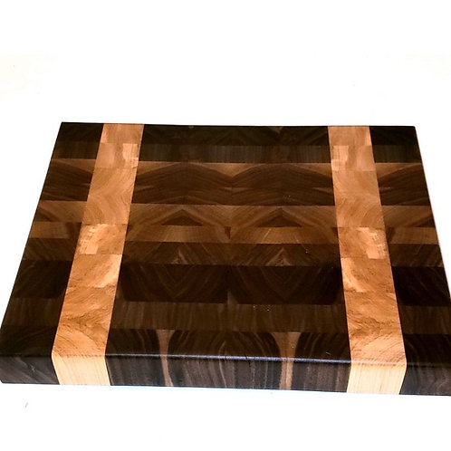 Walnut w/ Maple End Grain Stripe
