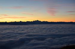 Mont Blanc vue depuis Monts Jura