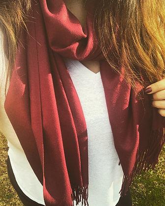 Maroon cashmere scarf