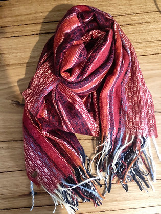Red boho scarf