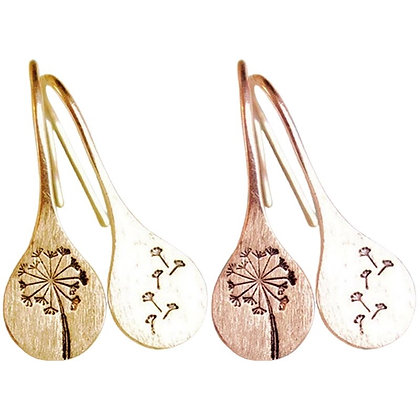 Etched S earring - silver, gold abd rose gold