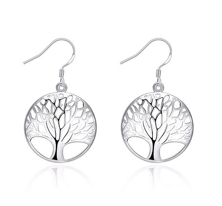 Silver Tree earring