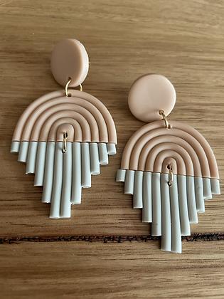 Pink rain earrings