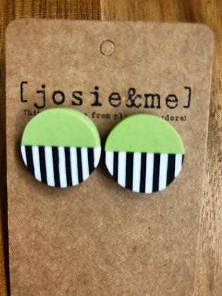 Lick earrings - Green