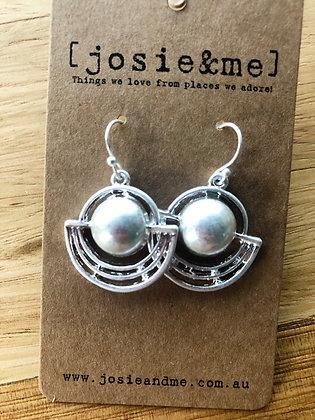 Silver pec earrings