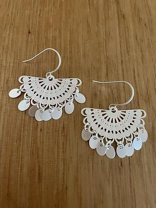 Span earrings - silver