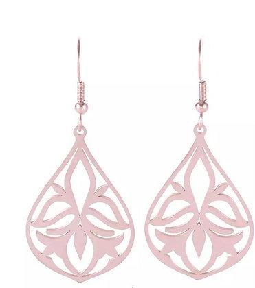 Delicate earrings - rose gold