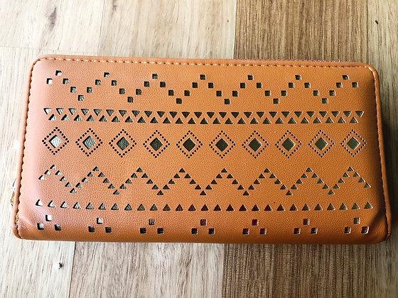 Tan gold purse