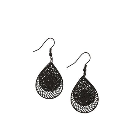 Doubles earrings - black