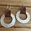Thumbnail: Silver leather earring
