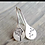 Thumbnail: Etched S earring - silver, gold abd rose gold