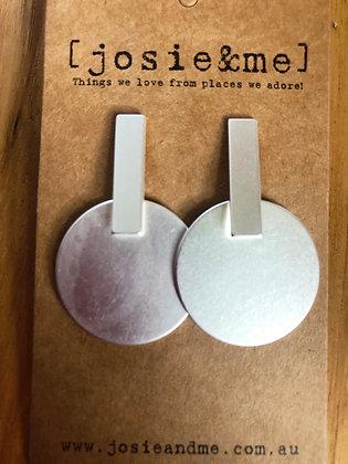 Matt silver earrings