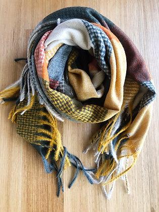 Orange winter scarf
