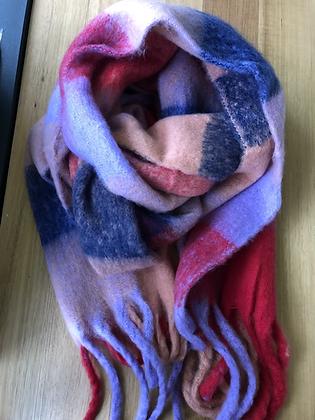 Winter scarf - pink/purples