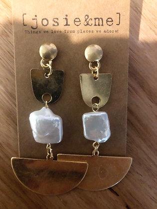Gold fance earrings