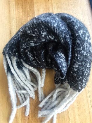 Winter black scarf