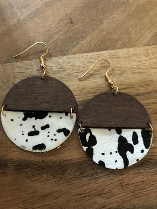 Half - cow earrings