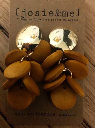 Dark ped earrings