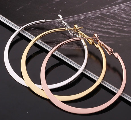 Hoops - Gold, silver, Rose gold