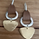 Thumbnail: Gold leather earring