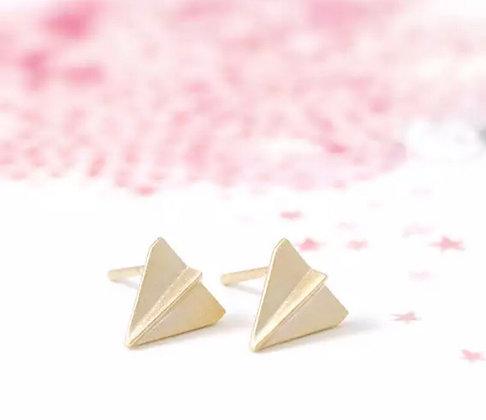 Rose gold paper earrings