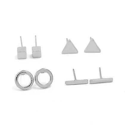 Silver shape earring