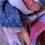 Thumbnail: Winter scarf - pink/purples