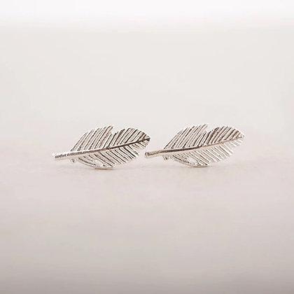 Leaf earring - silver, gold, rose gold