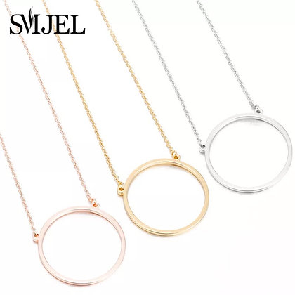Circle necklace - silver/gold