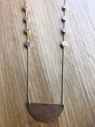 Gold semi necklace