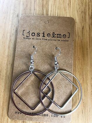 Con earrings - silver