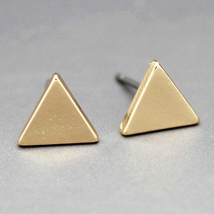 Solid triangles - Gold, black, silver, rose gold