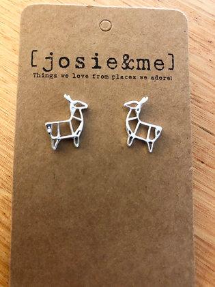 Xmas deer earrings - silver