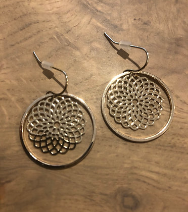 Gold on gold earrings