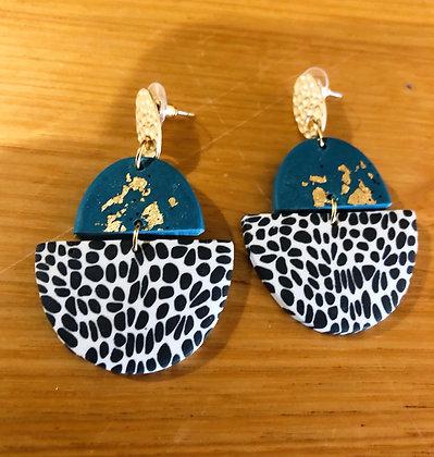 Polly blue spots earrings