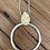 Thumbnail: Silver hoop necklace.
