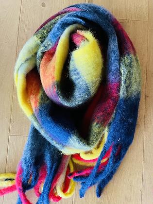 Winter scarf - rainbow