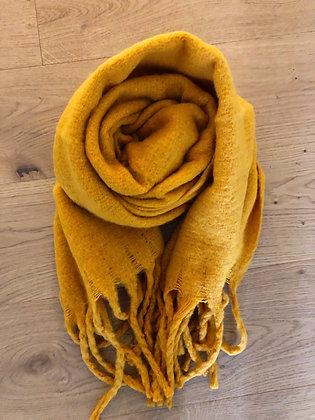 Winter soft yellow scarf