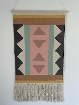 Pastel wall hanging